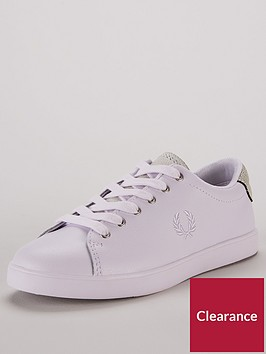 fred-perry-lottie-leather-lace-up-trainers-multi
