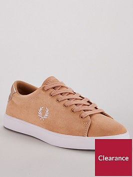 fred-perry-lottie-microfibrenbsplace-ups-trainers-brown
