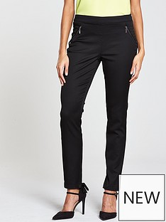 wallis-tinseltown-side-zip-trouser-black