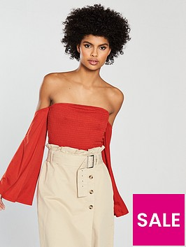 v-by-very-sheered-angel-sleeve-top
