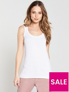v-by-very-relaxed-loose-jersey-vest-white