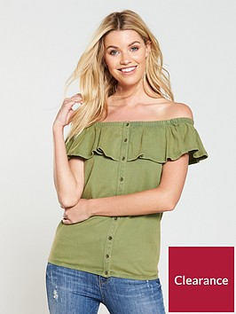 v-by-very-washed-frill-bardot-top