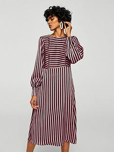 mango-striped-midi-dress
