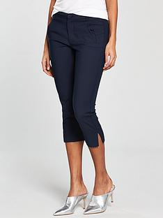 mango-crop-slim-fit-trouser-navy