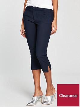 mango-crop-slim-fit-trouser-navy