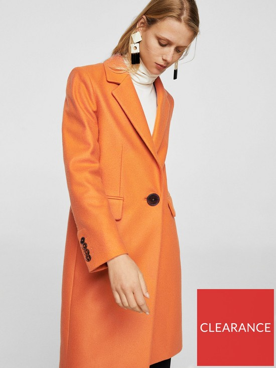 Mango Structured Wool Coat - Orange  12d8bad5c
