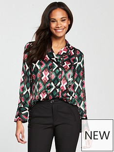 mango-geometric-printed-shirt