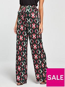 mango-high-waist-printed-trouser