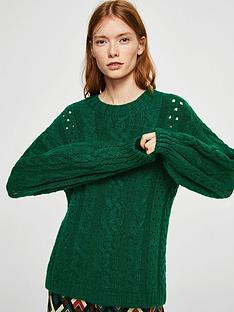 mango-openwork-cable-knit-jumper