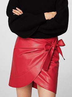 mango-bow-wrap-skirt-red