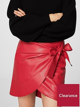 mango-bow-wrap-skirt-red