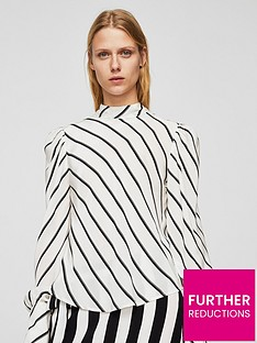 mango-puffed-sleeve-striped-shirt-off-white