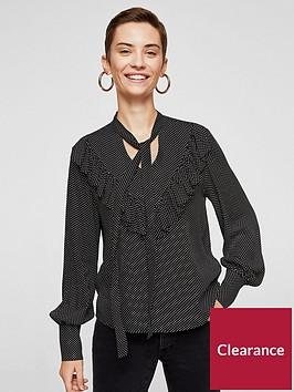 mango-ruffle-printed-blouse-blackwhite