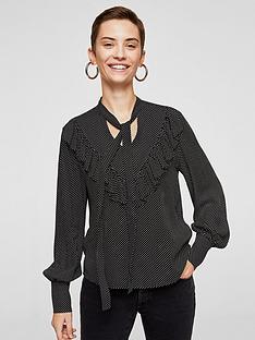 mango-ruffle-printed-blouse