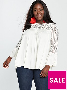 v-by-very-curve-lace-insert-top-ivory