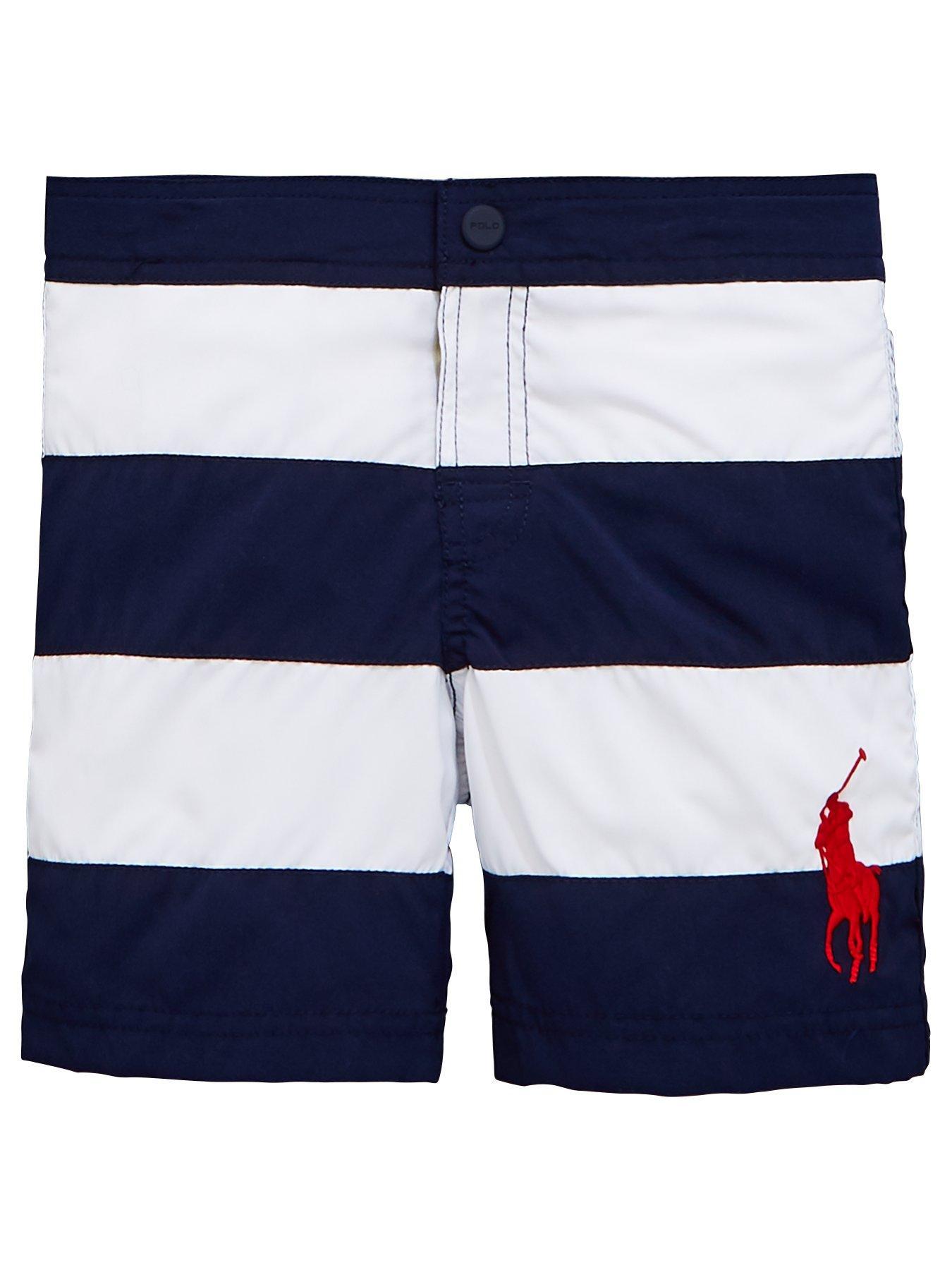 91895ff559e8 official store polo ralph lauren stripe swim shorts blue pill 9832e ...