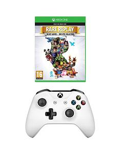 xbox-one-white-wireless-controller-plus-rare-replay