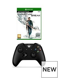 xbox-one-black-wireless-controller-plus-quantum-break