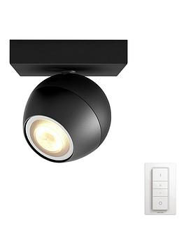 philips-hue-buckram-single-spot-black-1x55w-with-dimmer-switch