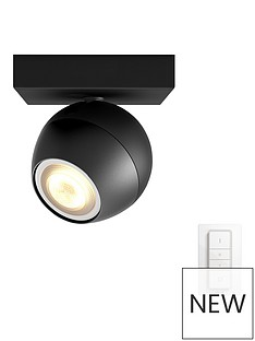 philips-philips-hue-buckram-single-spot-black-1x55w-with-dimmer-switch