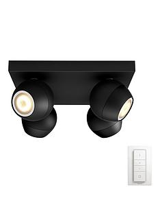 philips-hue-buckram-quadruple-spot-bar-black-with-dimmer-switch