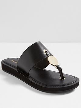 aldo-yilania-flat-sandal-black