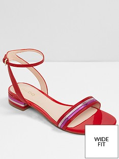 aldo-izziew-low-heel-sandal-wide-fit-red