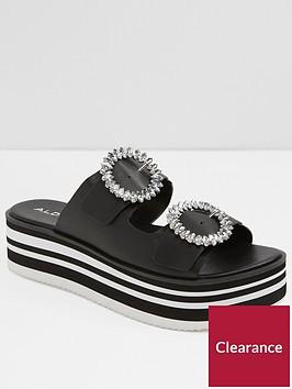 aldo-vydien-flatform-with-buckles-black