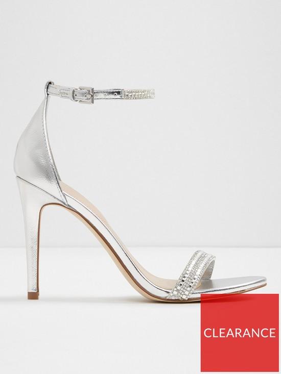 d27a2a1f6c89 Aldo Ciasa Metallic Strap Heeled Sandal - Silver
