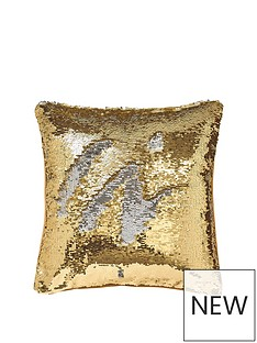 catherine-lansfield-reverse-sequin-cushion-goldsilver