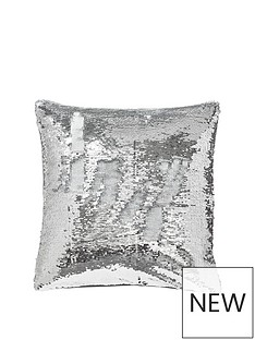 catherine-lansfield-reverse-sequin-cushion-silverwhite