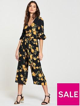 miss-selfridge-arabella-floral-culotte-jumpsuit-blackprintnbsp