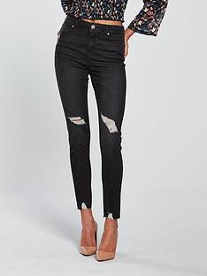 miss-selfridge-lizzie-high-waist-skinny-jean-black