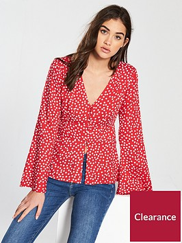 miss-selfridge-klara-blouse-rednbsp