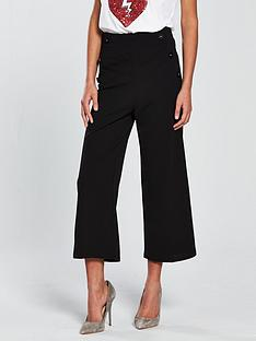 miss-selfridge-button-detail-crop-wide-leg-trouser-black