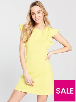 miss-selfridge-scuba-a-line-dress-yellow