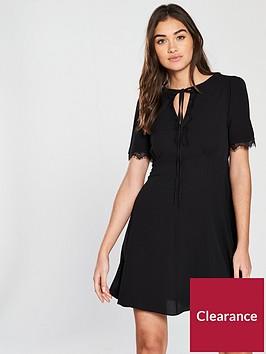 miss-selfridge-lace-insert-tea-dress-black