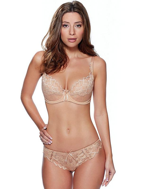 a few days away reliable quality many styles Fiore Padded Plunge Bra - Nude