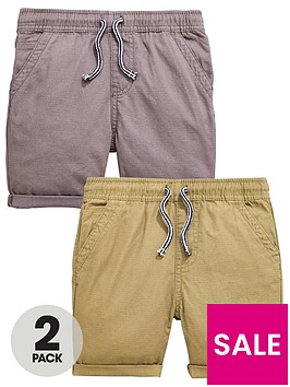 mini-v-by-very-boys-2-pack-pull-on-shorts