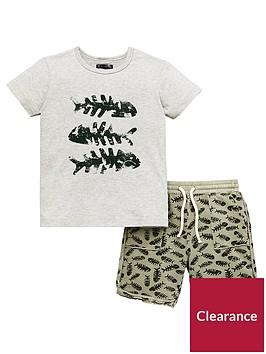 mini-v-by-very-toddler-boys-2-piece-fish-bones-t-shirt-and-shorts-set-multi