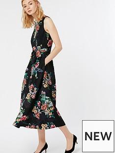 monsoon-carly-botanical-midi-dress-black