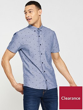 v-by-very-short-sleeved-printed-chambray-shirt