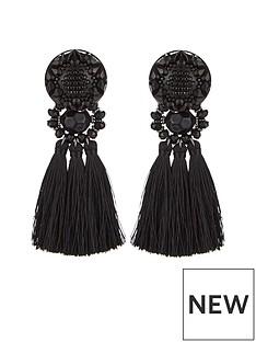 v-by-very-tassel-earrings-black