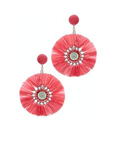 v-by-very-raffia-earrings-pink