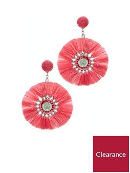 v-by-very-raffia-earrings-pink