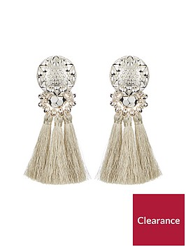 v-by-very-tassel-earrings-silver