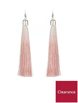v-by-very-ombre-tassel-earrings-pink