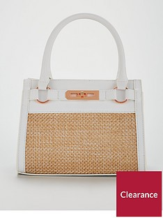 michelle-keegan-raffia-panel-tote-bag-white