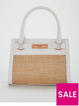 michelle-keegan-raffia-panel-tote-bag-white