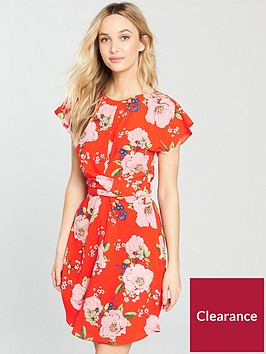 v-by-very-twist-front-skater-dress-red-print